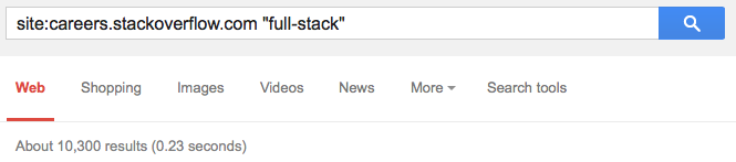 Full-stack careers on Stack Overflow